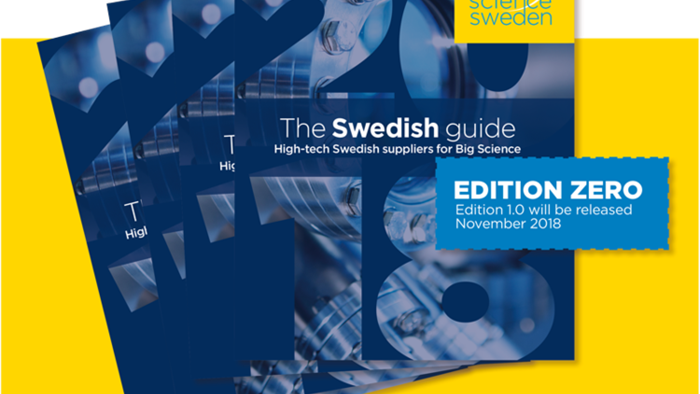 The Swedish Guide – high-tech suppliers for Big Science har sett dagens ljus. Edition Zero.