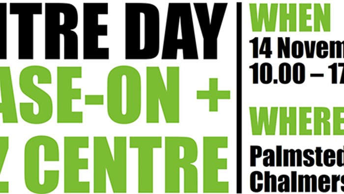 Meet us at the Chalmers Centre Day, November 14
